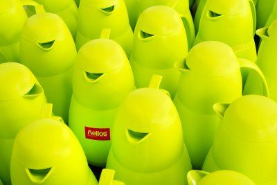 Thermoskannen lemongreen, Firma helios, Isolierkannen lemongreen, Produktfotografie, Schmelz Fotodesign