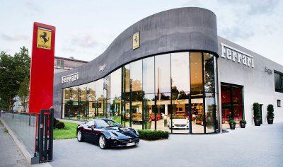 Schmelz Fotodesign, Autohaus Saggio GmbH, Standort München, Architekturfotografie, Werbefotografie
