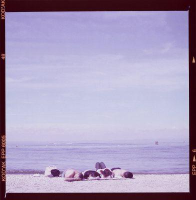 Schmelz Fotodesign, Am Strand, Polaroid Image Transfer, Reisefotografie, Reportagefotografie, Slow Pictures