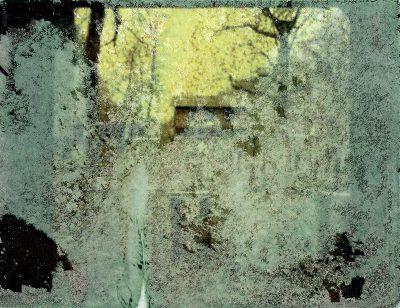Schmelz Fotodesign, Biergarten in Gramschatz, Polaroid Image Transfer, Slow Pictures, Fotokunst