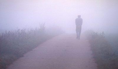 Schmelz Fotodesign, Spaziergänger Im Nebel, Slow Pictures, Reportagefotografie