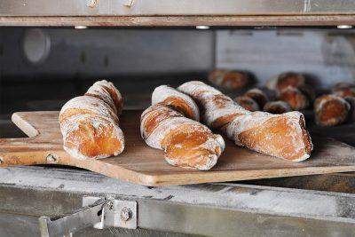 Foodfotografie, Brot im Backofen. Ciabatta, Bäcker, Schmelz Fotodesign